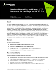 Wireless Networking and Energy: LTE Standards Set the Stage for the 5G Era