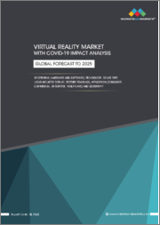Virtual Reality Market with COVID-19 Impact Analysis by Offering (Hardware & Software), Technology, Device Type (Head-Mounted Display, Gesture-Tracking Device), Application (Consumer, Commercial, & Others) & Geography-Global Forecast to 2025
