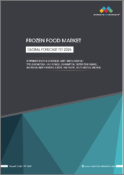 Frozen Food Market Product (Fruits & Vegetables, Dairy, Meat & Seafood), Type (Raw Material, Half Cooked), Consumption, Distribution Channel, and Region (North America, Europe, Asia Pacific, South America, and MEA) - Global Forecast to 2025