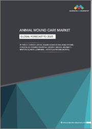 Animal Wound Care Market by Product (Surgical (Suture, Sealant, Glue) Advanced (Film, Foam, Hydrogel, Hydrocolloid dressing) Traditional (Dressing, Bandage, Absorbent, Tape) & NPWT Device) Animal & End User-Global Forecast to 2025