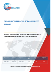 Global Non-Ferrous Scrap Market Report, History and Forecast 2015-2026, Breakdown Data by Manufacturers, Key Regions, Types and Application