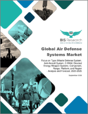 Global Air Defense Systems Market: Focus on Type (Missile Defense System, Anti-Aircraft System, C-RAM, Directed Energy Weapon System), Component, Range, Platform, and Region - Analysis and Forecast, 2020-2025