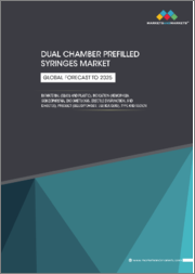 Dual Chamber Prefilled Syringes Market by Material (Glass and Plastic), Indication (Hemophilia, Schizophrenia, Endometriosis, Erectile Dysfunction, and Diabetes), Product (Liquid/Powder, Liquid/Liquid), and Region - Global Forecast to 2025