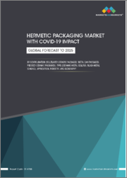 Hermetic Packaging Market with COVID-19 impact by Configuration (Multilayer Ceramic Packages, Metal Can Packages, Pressed Ceramic Packages), Type (Ceramic-Metal Sealing, Glass-Metal Sealing), Application, Industry, & Region - Global Forecast to 2025