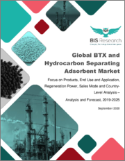 Global BTX and Hydrocarbon Separating Adsorbent Market: Focus on Products, End Use and Application, Regeneration Power, Sales Mode and Country-Level Analysis - Analysis and Forecast, 2019-2025
