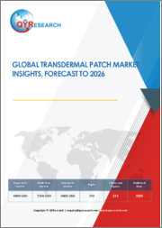 Global Transdermal Patch Market Insights, Forecast to 2026