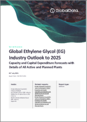 Global Ethylene Glycol (EG) Industry Outlook to 2025 - Capacity and Capital Expenditure Forecasts with Details of All Active and Planned Plants