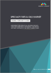 Specialty Fats & Oils Market by Type (Specialty Fats & Specialty Oils), Application (Chocolate & Confectionery, Bakery Product, Processed Food, Animal Nutrition, Dairy Product, & Infant Nutrition), Form, Region-Global Forecast to 2026