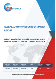 Global Automotive Sunroof Market Report, History and Forecast 2015-2026, Breakdown Data by Manufacturers, Key Regions, Types and Application