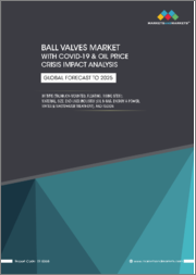 Ball Valves Market With COVID-19 & Oil Price Crisis Impact Analysis By Type (Trunnion-mounted, Floating, Rising Stem), Material, Size, End-User (Oil & Gas, Energy & Power, Water & Wastewater Treatment), and Region - Global Forecast to 2025