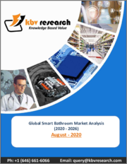 Global Smart Bathroom Market By Product (Smart Toilet, Smart Soap Dispenser, Smart Faucet, Smart Shower, and Other Products), By Application (Commercial and Residential), By Region, Industry Analysis and Forecast, 2020 - 2026