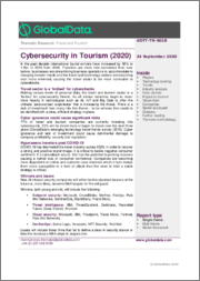 Cybersecurity in Tourism, 2020 Update - Thematic Research