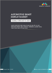"Automotive Smart Display Market by Application, Display Size (<5"", 5""-10"", >10""), Display Technology (LCD, TFT-LCD, OLED), Autonomous Driving, Electric Vehicle, Vehicle Class, Vehicle Type, Region-Global Forecast to 2025"