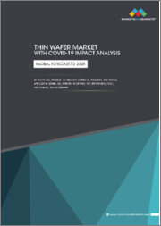 Thin Wafer Market with COVID-19 impact analysis by Wafer Size (125 mm, 200 mm, and 300 mm), Process (Temporary Bonding & Debonding and Carrier-less/Taiko Process), Technology , Application, and Geography - Global Forecast to 2025
