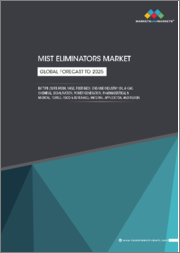 Mist Eliminator Market by Type (Wire-mesh, Vane, Fiber-Bed), End-Use Industry (Oil & Gas, Chemical, Desalination, Power Generation, Pharmaceutical & Medical, Paper & Pulp, Textile, & Others), Material, Application, Region-Global Forecast to 2025