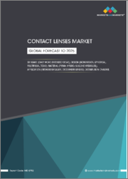 Contact Lenses Market by Usage (Daily Wear, Extended Wear), Design (Monovision, Spherical, Multifocal, Toric), Material (PMMA, Hybrid, Silicone Hydrogel), Application, Distribution Channel, Region-Global Forecast to 2025