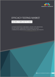 Efficacy Testing Market by Service Type (Antimicrobial/Preservative Efficacy Testing, Disinfectant Efficacy Testing (Surface, Suspension)), Application (Pharmaceutical Manufacturing, Cosmetic & Personal Care Products, Consumer) - Global Forecast to 2025