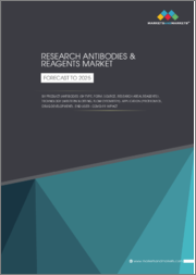 Research Antibodies & Reagents Market by Product (Antibodies (Type, Form, Source, Research Area), Reagents), Technology (Western blotting, Flow Cytometry), Application (Proteomics, Drug Development), End User-COVID-19 Impact-Global Forecast to 2025