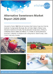 Alternative Sweeteners Market Report 2020-2030: Forecasts by Product, by Application, by Distribution Channel, Profiles of Leading Companies, Regional/Leading National Market Analysis, and COVID-19 Recovery Scenarios