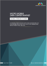 Micro Mobile Data Center Market by Application (Instant Data Center, Remote Office and Branch Office, and Edge Computing), Rack Unit (Up to 20 RU, 20 RU to 40 RU, and Above 40 RU), Organization Size, Vertical, and Region - Global Forecast to 2025