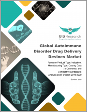 Global Autoimmune Disorder Drug Delivery Devices Market: Focus on Product Type, Indication, Manufacturing Type, Country Data (14 Countries), and Competitive Landscape - Analysis and Forecast, 2019-2030
