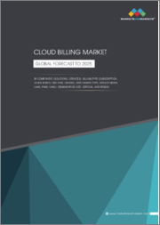 Cloud Billing Market by Component (Solutions, Services), Billing Type (Subscription, Usage-Based, One-Time, Others), Deployment Type, Service Model (IaaS, PaaS, SaaS), Organization Size, Vertical, and Region - Global Forecast to 2025