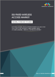 5G Fixed Wireless Access Market with COVID-19 Impact Analysis by Offering (Hardware, Services), Operating Frequency (Sub-6 GHz, 24 GHz-39 GHz, Above 39 GHz ), Demography (Urban, Semi-Urban, Rural), Application, and Region - Global Forecast to 2026