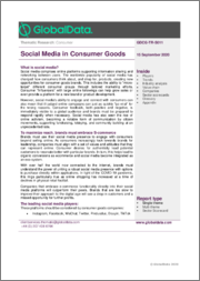 Social Media in Consumer Goods - Thematic Research