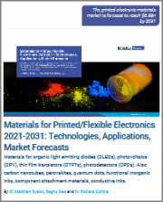 Materials for Printed/Flexible Electronics 2021-2031: Technologies, Applications, Market Forecasts
