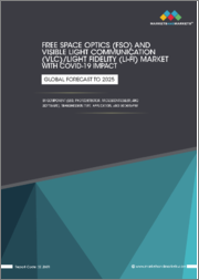 Free Space Optics (FSO) and Visible Light Communication (VLC)/Light Fidelity (Li-Fi) Market with COVID-19 Impact Analysis by Component (LED, Photodetector, Microcontroller, Software), Transmission Type, Application, Geography - Global Forecast to 2025