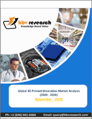 Global 3D Printed Wearables Market By Product Type, By End User, By Region, Industry Analysis and Forecast, 2020 - 2026