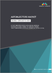 Autoinjectors Market by Therapy (Rheumatoid Arthritis, Multiple Sclerosis, Anaphylaxis, Cardiovascular Diseases, Diabetes), Type (Disposable, Reusable), Route of administration (Subcutaneous, Intramuscular), End User (Hospital) - Global Forecast to 2025