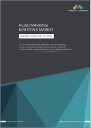Road Marking Materials Market by Type (Performance-based Markings & Paint-based Markings), Application (Road & Highway Marking, Parking Lot Marking, Factory Marking, Airport Marking, and Anti-skid Marking), and Region - Global Forecast to 2025