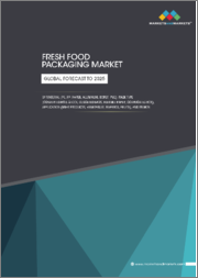 Fresh Food Packaging Market by Material (PE, PP, Paper, Aluminum, BOPET, PVC), Pack Type (Converted Roll Stock, Gusseted Bags, Flexible Paper, Corrugated Box), Application (Meat Products, Vegetables, Seafood, Fruits), & Region - Global Forecast to 2025