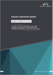 Ceramic Substrates Market by Product Type (Alumina, Aluminum Nitride, Silicon Nitride, Beryllium oxide), End-use Industry (Consumer Electronics, Automotive, Telecom, Industrial, Military & Avionics), and Region - Global Forecast to 2025