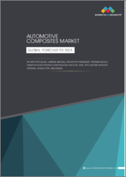 Automotive Composites Market by Fiber Type (Glass, Carbon, Natural), Resin Type (Thermoset, Thermoplastics), Manufacturing Process (Compression, Injection, RTM), Applications, Vehicle Type, and Region - Global Forecast to 2025