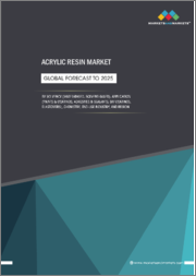 Acrylic Resins Market by Solvency (Water-based, solvent-based, and others), Chemistry, Application (Paints & coatings, adhesives & sealants, DIY coatings, elastomers, and others), End-use Industry, and Region - Global Forecast to 2025