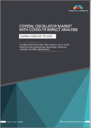 Crystal Oscillator Market with COVID-19 Impact Analysis by General Circuity (SPXO, TCXO, VCXO), Crystal Cut (AT Cut, BT Cut, SC Cut), Mounting Scheme (Surface Mount, Through-Hole) Application (Consumer Electronics), Geography - Global Forecast to 2025