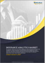 Insurance Analytics Market by Component, Business Application (Claims Management, Pricing & Risk Management, Customer Management & Personalization), Deployment, Organization Size, End-User (Agencies, Brokers), and Geography - Global Forecast to 2027