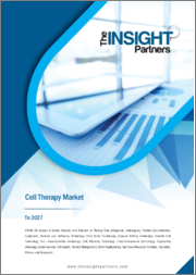 Cell Therapy Market Forecast to 2027 - COVID-19 Impact and Global Analysis By Therapy Type ; Product ; Technology ; Application ; End User, and Geography