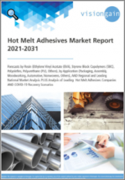 Hot Melt Adhesives Market Report 2021-2031: Forecasts by Resin (EVA, SBC, Polyolefins, PU, Others), by Application, Regional & Leading National Market Analysis, Leading Companies, COVID-19 Recovery Scenarios
