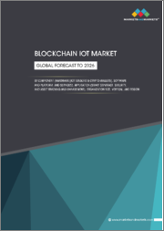 Blockchain IoT Market by Component (Hardware (IoT Sensors & Crypto-Wallets), Software and Platform, and Services), Application (Smart Contract, Security, and Asset Tracking and Management), Organization Size, Vertical, & Region - Global Forecast to 2026