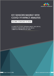 IoT Sensors Market with COVID-19 impact by Sensor type, Network Technology, Vertical, Application, and Geography (North America, Europe, APAC, RoW) - Global Forecast to 2026