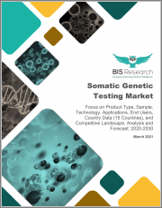 Global Somatic Genetic Testing Market: Focus on Product Type, Sample, Technology, Applications, End Users, Country Data (15 Countries), and Competitive Landscape - Analysis and Forecast, 2020-2030