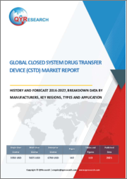 Global Closed System Drug Transfer Device (CSTD) Market Report, History and Forecast 2016-2027