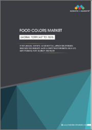 Food Colors Market by Type (Natural, synthetic, nature-identical), Application (Food products, and beverages), Form (Liquid, powder and gel), Solubility (Dyes and lakes) & Region - Global Forecast to 2026